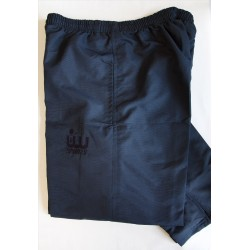Black Shell Track Bottoms
