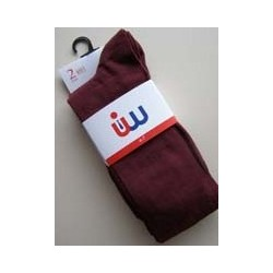 Girls 2 Pack Wine Socks