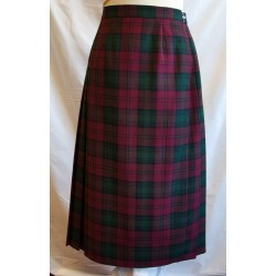 Wine Checked Kilt