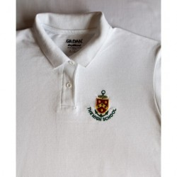 HS White Boys Polo