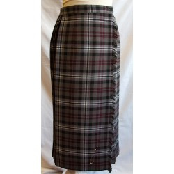 Grey Check Kilt with Fringe