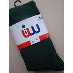 Girls Green 2 Pack Socks