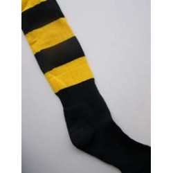 Black/Amber Sports Socks