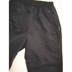 Black Microfiber Track Bottoms
