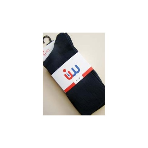 Junior Girls 2 Pack Navy Socks