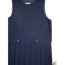 Navy 1 All round Pleat Pinafore ""