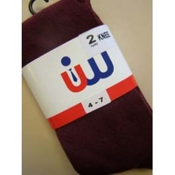 Wine Knee Socks (Girls 2 Pack)