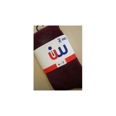 Wine Knee Socks (Girls 2 Pack)